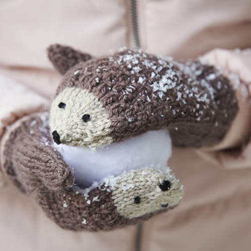 Knit Hedgehog Mittens - Free Pattern