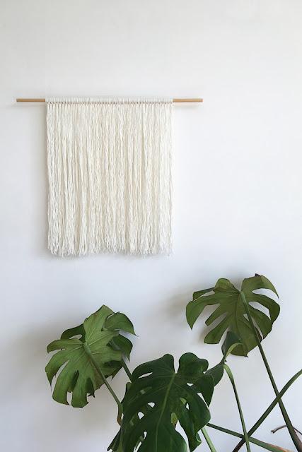 minimalist wall hanging