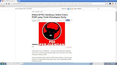 Ketua DPRD Surabaya Sebut Cuma PDIP yang Tolak Penutupan Dolly