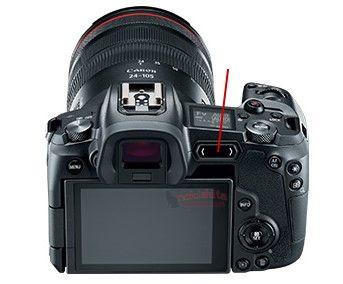 Canon EOS R, вид сзади