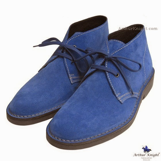 Prince Harry Blue Suede Shoes