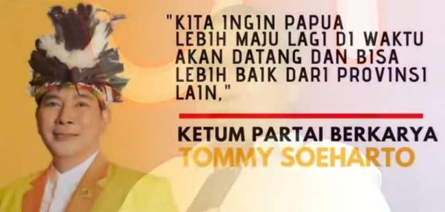 Ini Alasan Tommy Soeharto Pilih Dapil PAPUA
