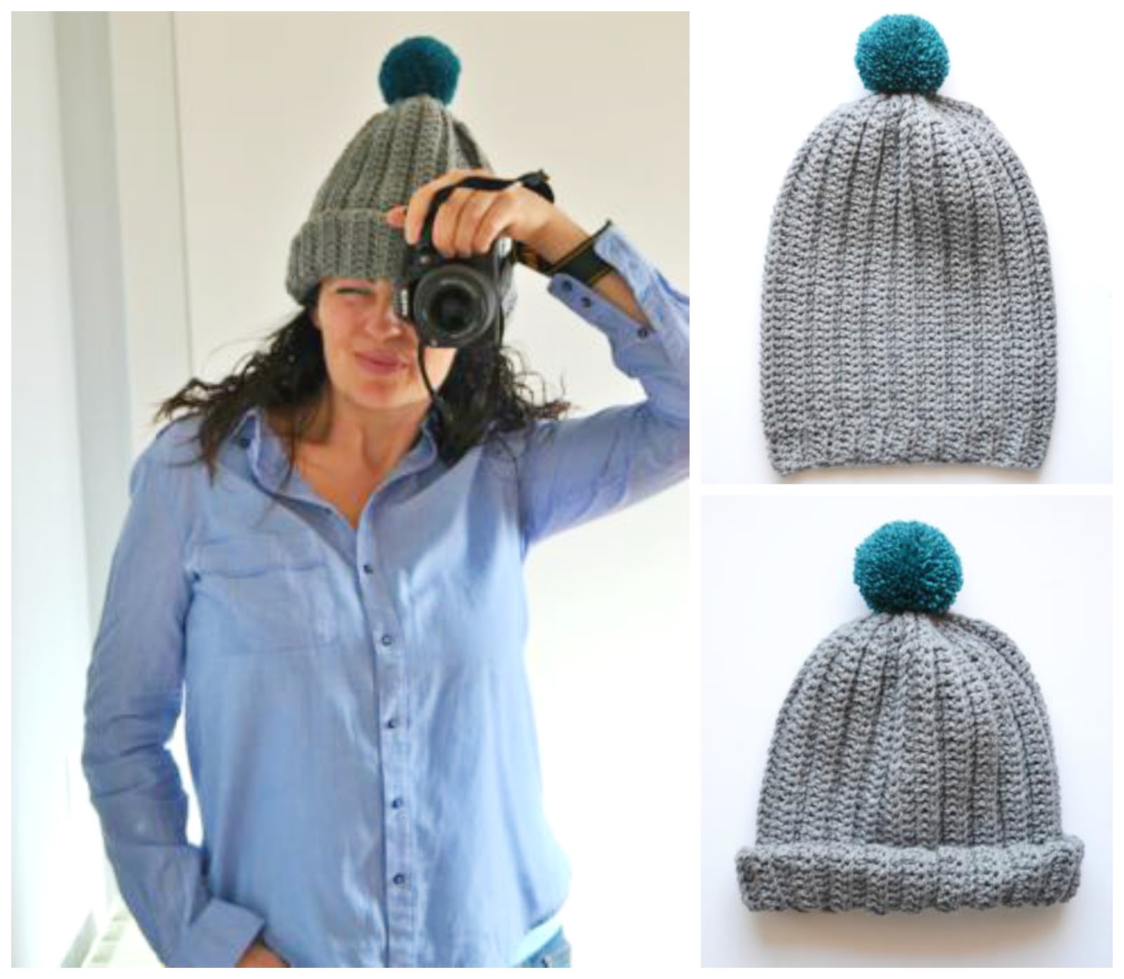 my world of wool  tutorial how to make a beanie with pom pom 06a8822bf3ad