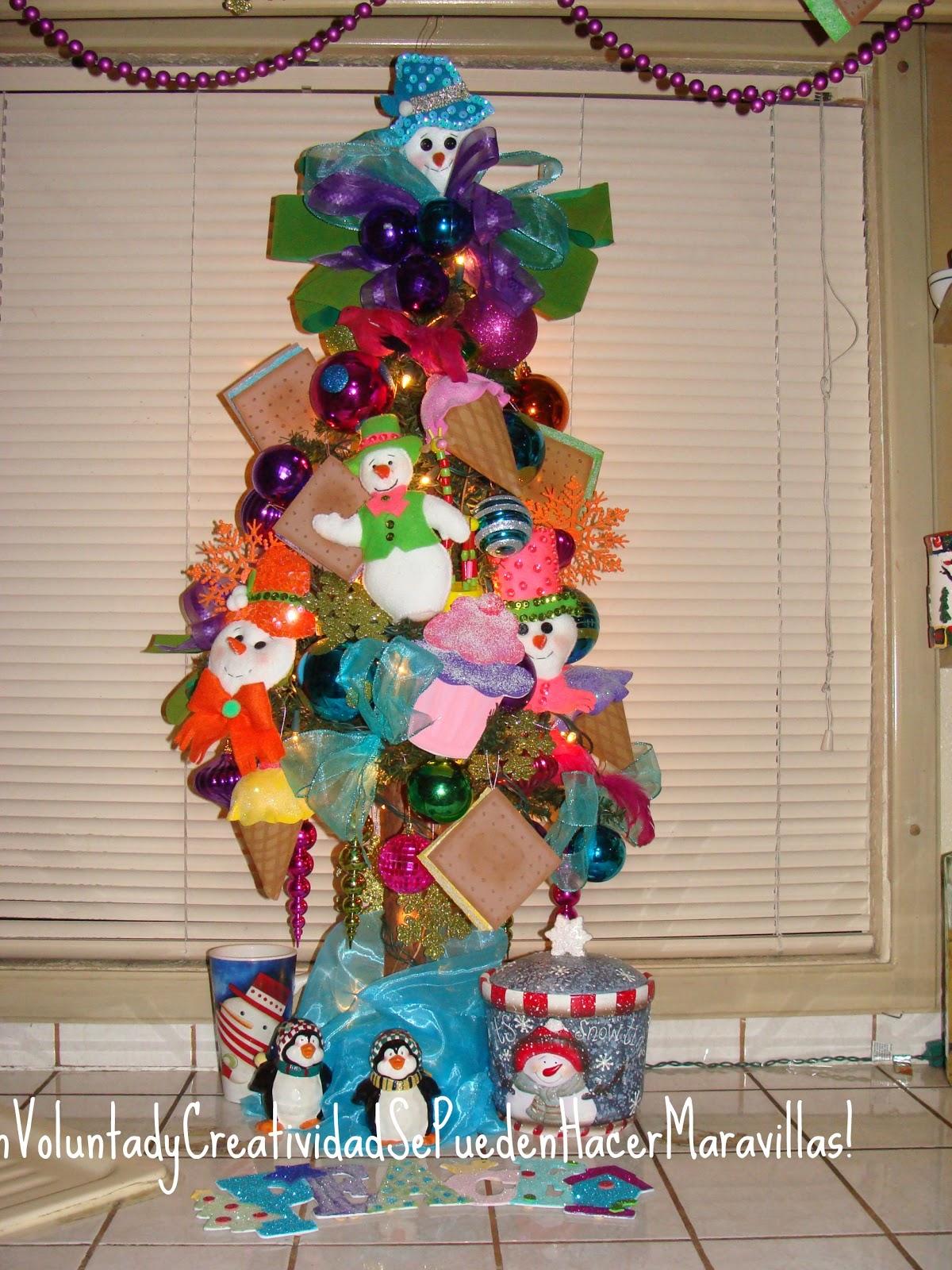 Con voluntad y creatividad se pueden hacer maravillas - Adorno arbol de navidad ...