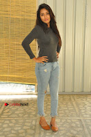 Actress Bhanu Tripathri Pos in Ripped Jeans at Iddari Madhya 18 Movie Pressmeet  0003.JPG
