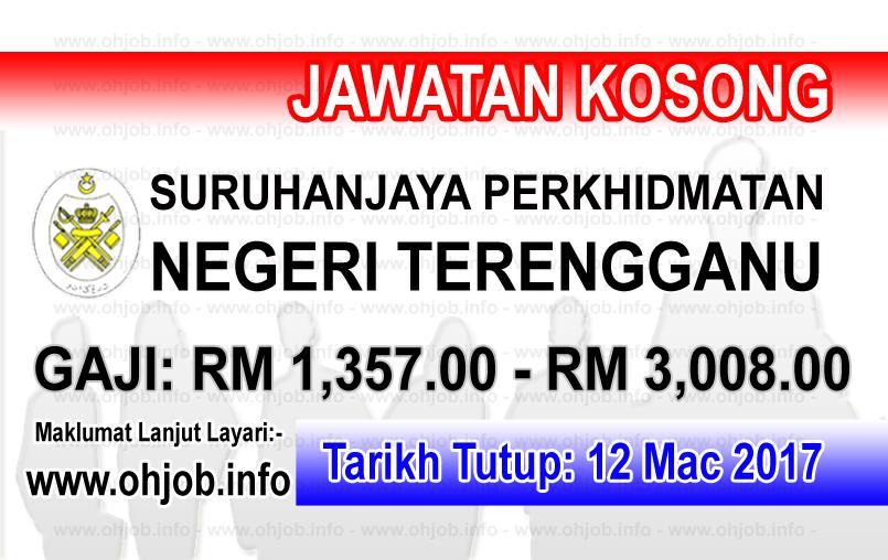 Jawatan Kerja Kosong SPNT - Suruhanjaya Perkhidmatan Negeri Terengganu logo www.ohjob.info mac 2017