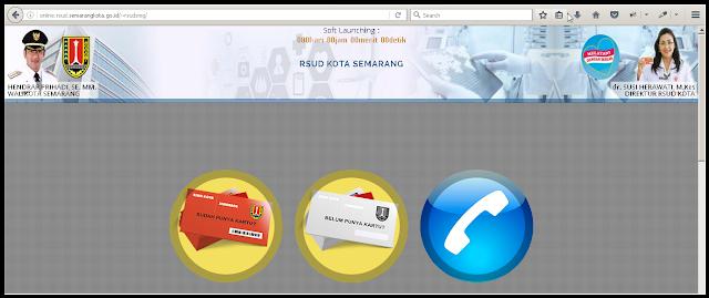 Halaman Utama Aplikasi Pendaftaran Online RSUD Kota Semarang