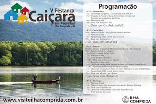 Shows de Simoninha, Chimarruts e Circuladô De Fulô  na V Festança Caiçara , entre 25 e 28/1, em Pedrinhas
