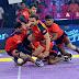 ||**Pro Kabaddi League** : *Dabang Delhi K.C. thrash Bengaluru Bulls by 38-30*