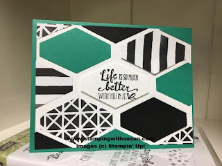 Stampin' Up! Petal Passion Tailored Tag Background Emerald Envy