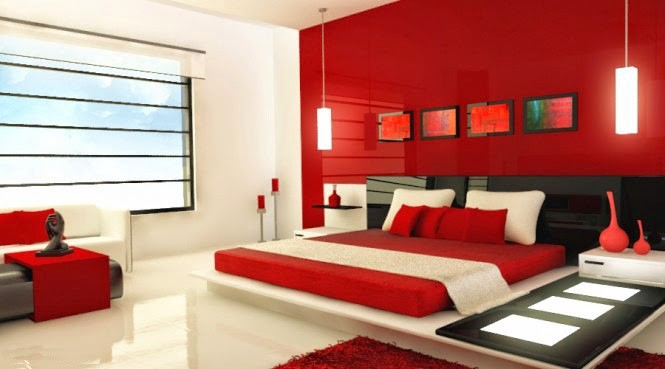 warna cat kamar tidur merah hitam 6