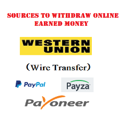 Ways to withdraw money from internet in Pakistan and India with paypal, western union, payza and payoneer