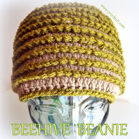 beanie, how to crochet, free crochet patterns, beehive, surface crochet,