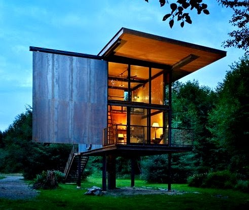 The Flying Tortoise Sol Duc A Tiny Cabin On Stilts