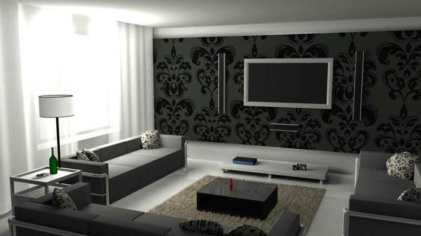 D coration salon en noir et blanc d coration salon for Mobili per salone moderni