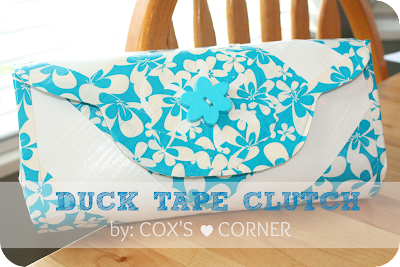 Duck Tape Clutch whatdoesthecoxsay.com #tutorial #ducktape
