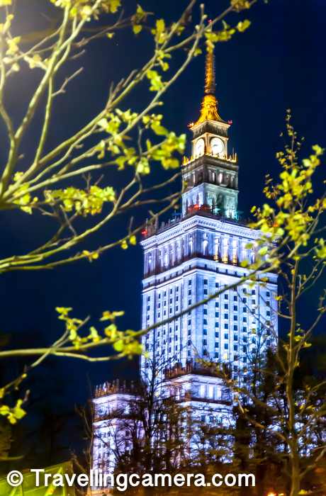 While roaming around the Warsaw Town, I noticed this high building from various parts of the city and it looked like a giant clock tower. When I checked more, I got to know that its tallest building in Poland.