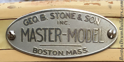 Geo. B. Stone Master-Model Drum Badge
