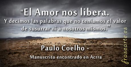 Frases Manuscrito encontrado en Acrra, Paulo Coelho