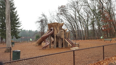 the DelCarte playground will be covered up during the winter