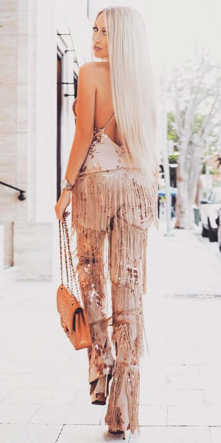 Party Outfits | From stylish jumpsuit to colorful jumpsuit, onepiece jumpsuit to strapless jumpsuit. Find 44 Insanely Cute Jumpsuit Outfits to Try Before Anyone in 2019. Jumpsuit Fashion and jumpsuit dress via higiggle.com #jumpsuit #outfits #style #fashion