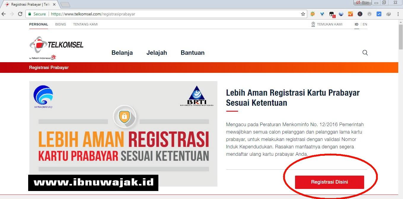 Mudahnya! Cara Registrasi Kartu Perdana Telkomsel Melalui Website  Ibnuwajak.id