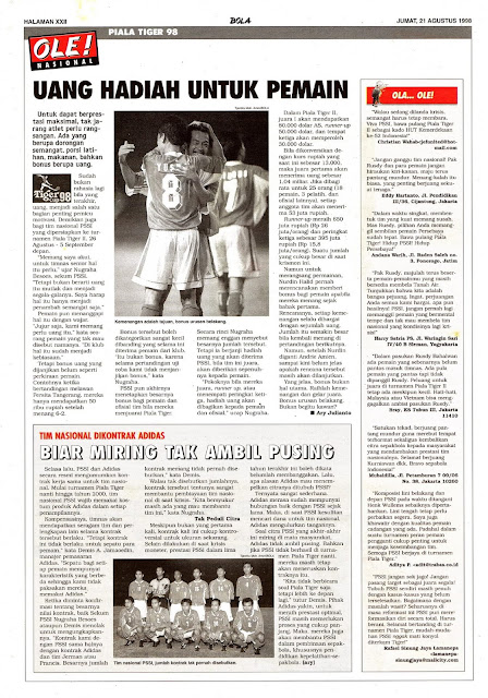 TIMNAS INDONESIA PIALA TIGER 1998 VIETNAM