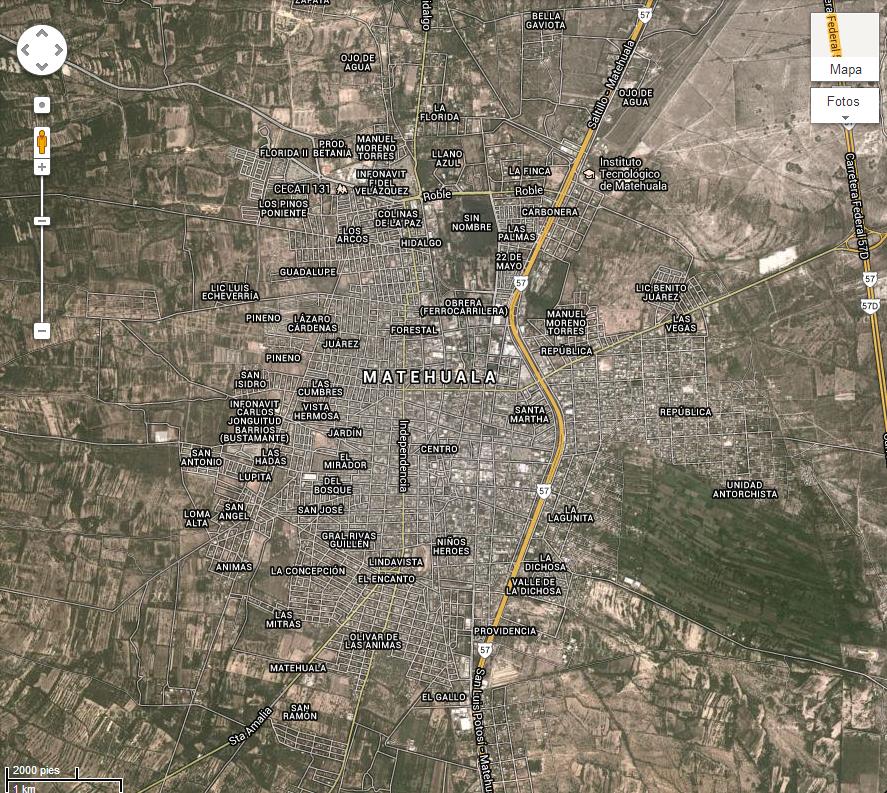 google map of san luis potosi mexico