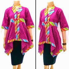 Model baju batik embos yang elegan