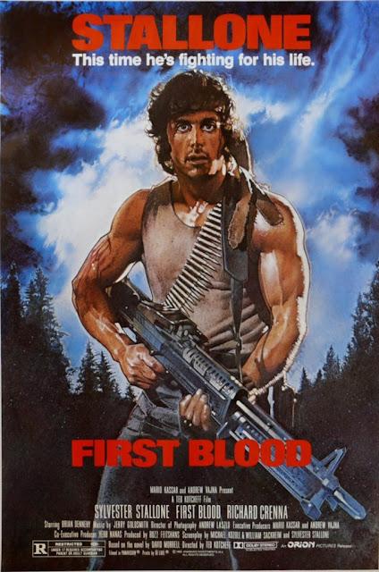 Póster original película Rambo Acorralado