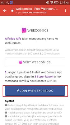cara daftar di webcomics