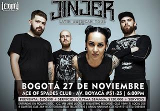 Concierto de JINJER en Bogotá