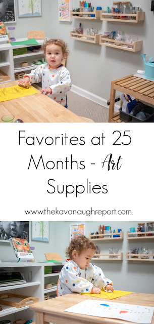 A look at our favorite art trays at 25-months-old.