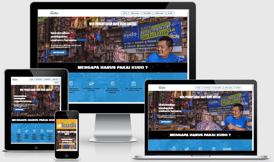 Landing Page Pendaftaran Agen Kudo Online