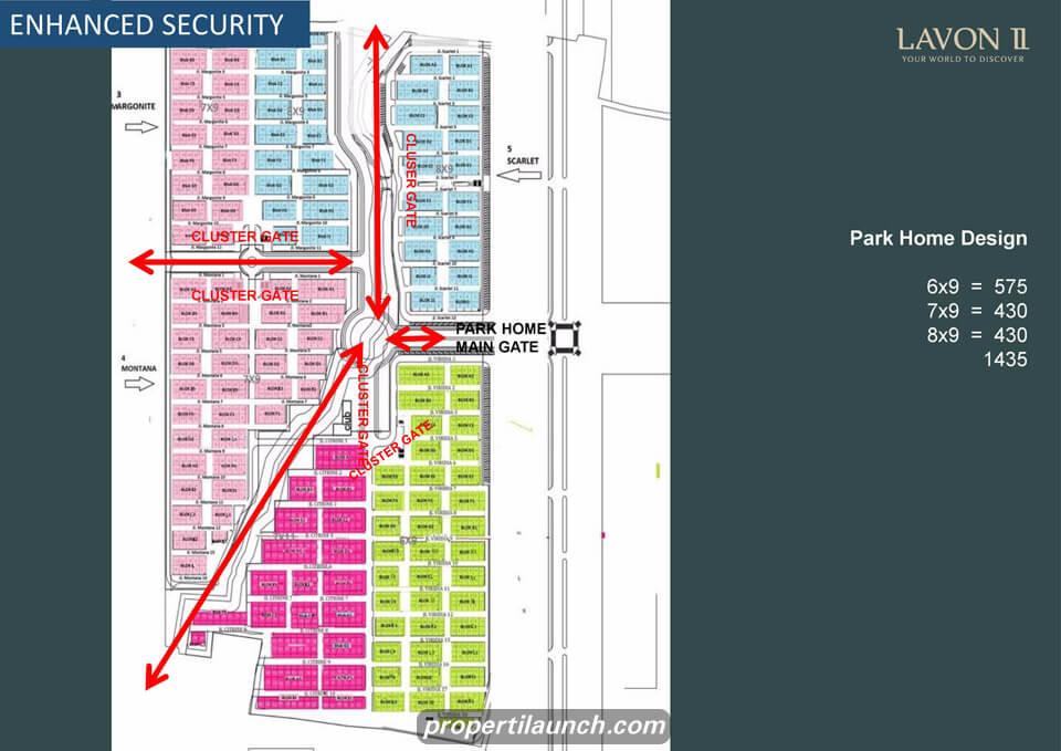 Site Plan Cluster Park Home