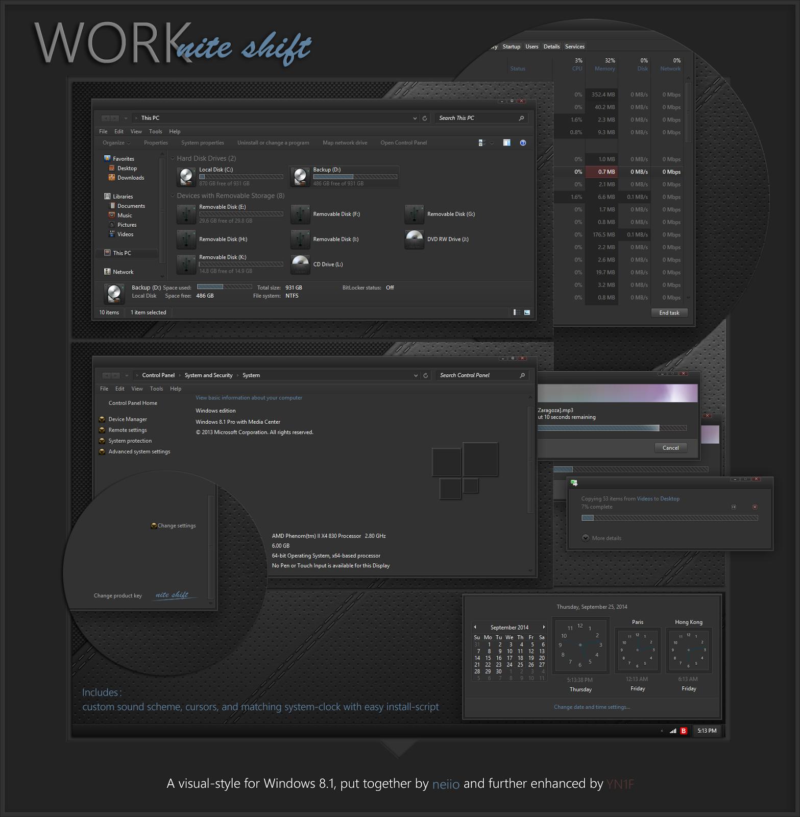 Work Nite Shift Theme For Windows 8 1 Cleodesktop I