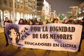 """Educadores en Lucha: """"Intress reconoce represalias a educadores del COA y responsabiliza a DGA del conflicto"""""""