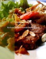 Terkadang proteksi nama kepada masakan mengandung bahasa Resep Gepuk Daging Sunda nan Nikmat