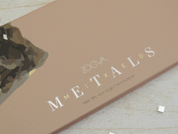 revue avis test zoeva mixed metals palette regard