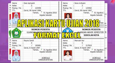 Download Aplikasi Kartu Ujian (US, UN, Try out, Pra Uas) Format Excel Otomatis