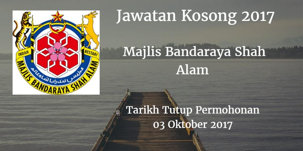 Jawatan Kosong MBSA 03 Oktober 2017