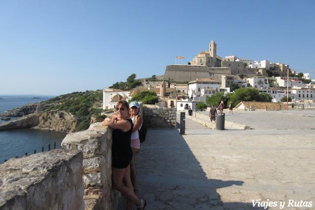 Catedral desde el Baluarte de Santa Lucía de Ibiza