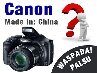 kamera Canon asli dibuat dari negara mana, asal negara pembuatan kamera Canon