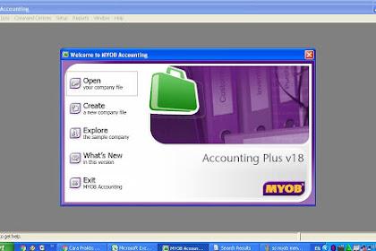 Tutorial MYOB: Cara Membuat Data Perusahaan Baru di Software MYOB v18