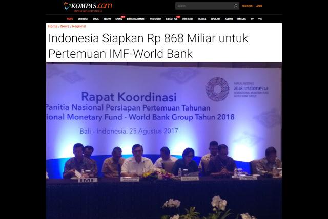 Indonesia Siapkan Rp 868 Miliar untuk Pertemuan IMF-World Bank, Netizen Kaget