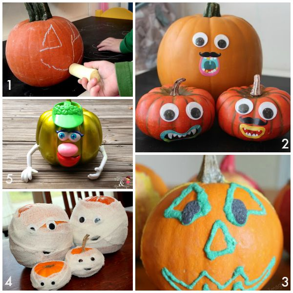 10 Easy No Carve Pumpkin Decorating Ideas Your Family Will Love  sc 1 st  Sunny Day Family & 10 Easy No Carve Pumpkin Decorating Ideas Your Family Will Love ...