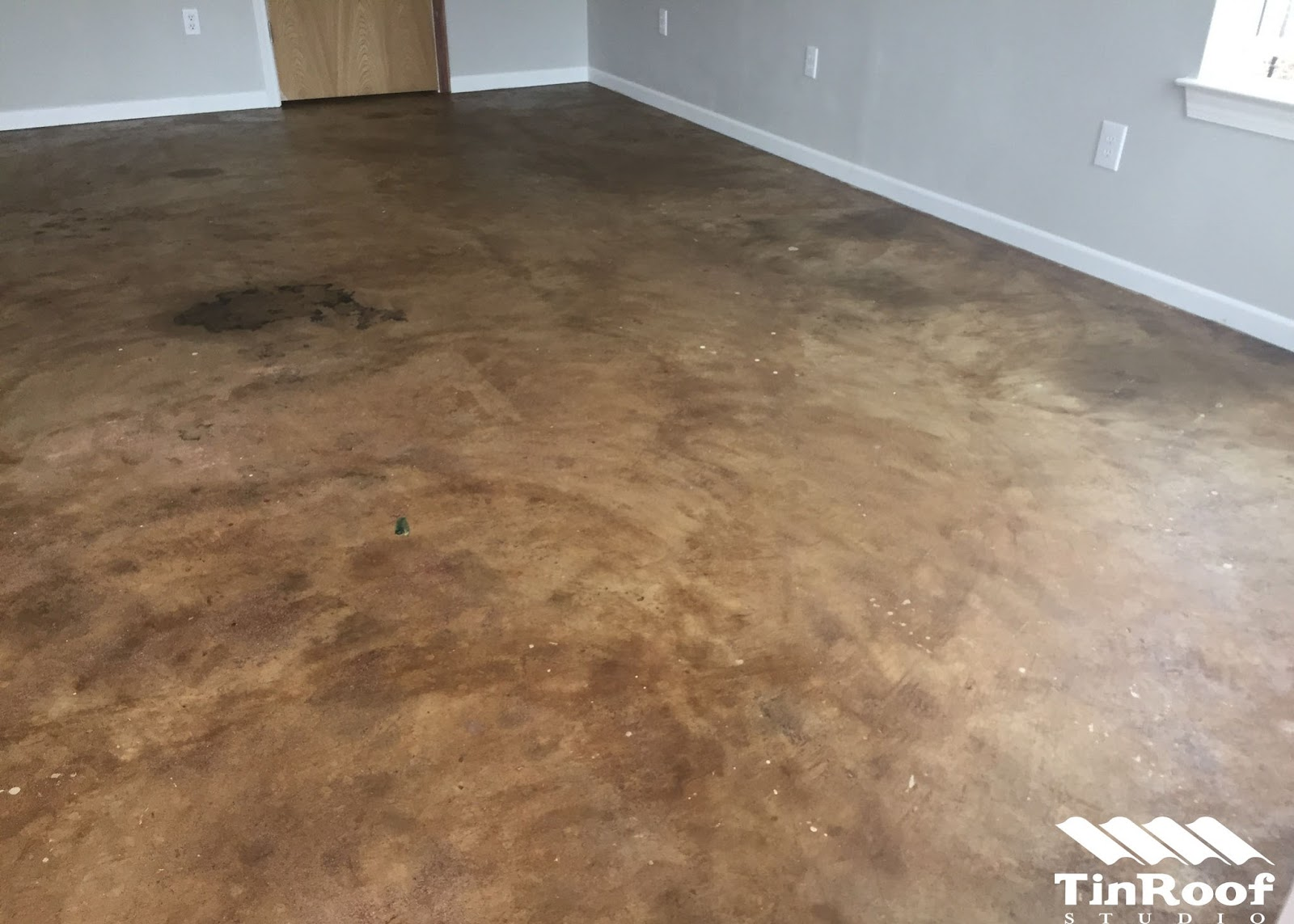 How I Stained My Concrete Floors