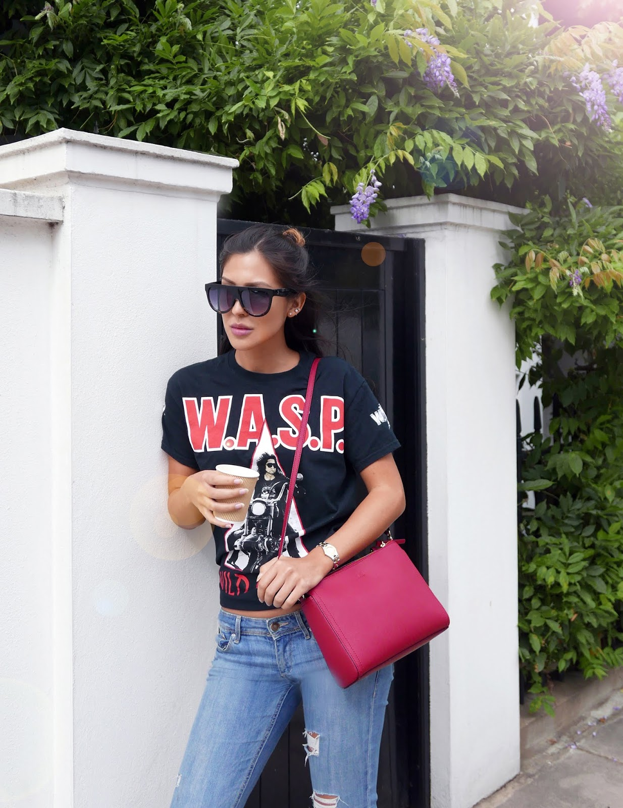 Euriental | fashion & luxury travel | WASP tshirt, Lo & Sons bag