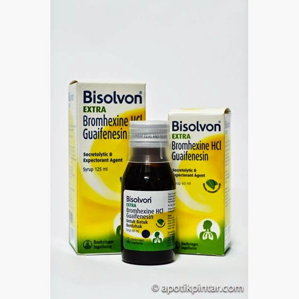 Bisolvon Extra Syrup : Bromhexine HCl dan Guaifenesin