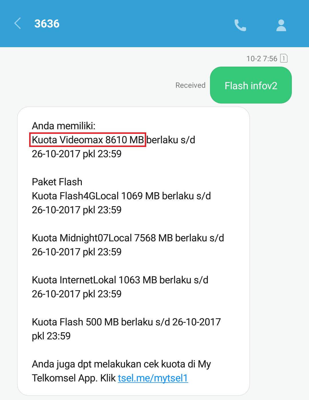 cara mengubah kuota video max telkomsel menjadi kuota